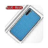 Josms for サムスンS20 A71注10 S10 S9 A70スリムソフトバンパーハードPCバックカバーCoqueの高級生地布電話ケース-LIGHT BLUE-For S20 Plus