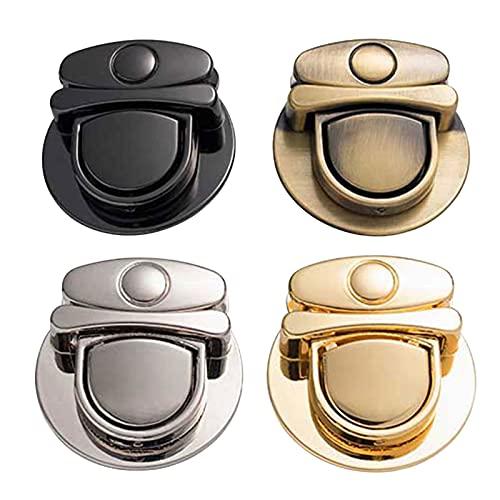 Liuwei - Blocco per borsa, chiusura a portafoglio con chiusura a spirale, per fai da te, per borse, borse, gioielli, valigie, accessori in pelle (4 pezzi)