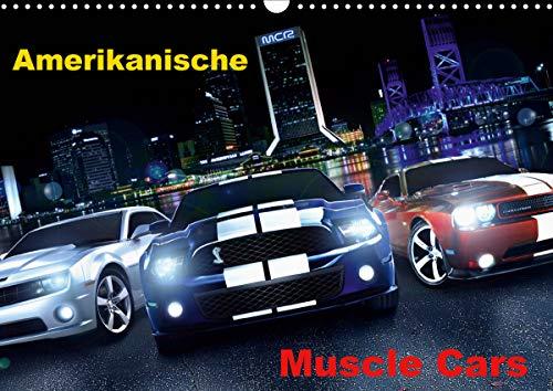 Amerikanische Muscle Cars (Wandkalender 2020 DIN A3 quer)