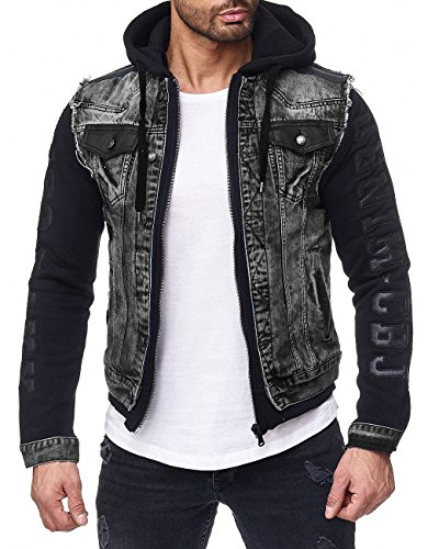 Cipo & Baxx Herren Jeans Jacke 155 Schwarz L