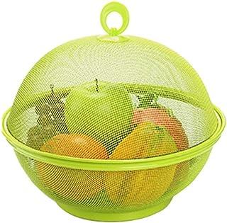 Corbeille Plastique avec Couvercl Panier De Fruits Et Legumes Rangement De Cuisine De Stockage Rangement pour Cuisine avec...