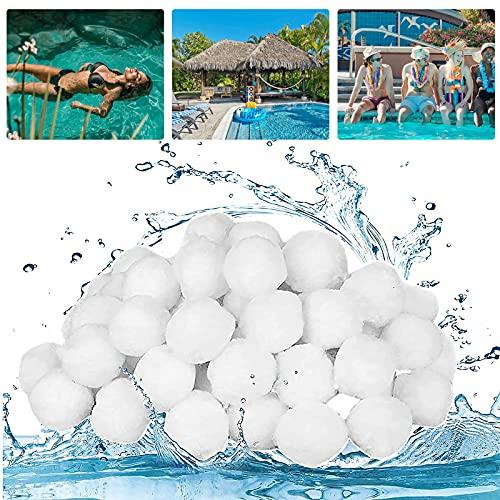 Filter Balls 700g Filterballs für Pool Sandfilteranlagen,Filterbälle Poolfilter Balls Sandfilterpumpe für Pool,Kann 25kg Filtersand Ersetzen,Filter Balls Filterpumpe für Schwimmbad,Innen Außenpools