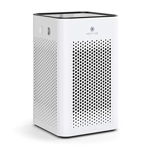 Medify MA-25 Air Purifier with H13 True HEPA Filter | 500 sq ft Coverage | for Smoke, Smokers, Dust, Odors, Pollen, Pet Dander | Quiet 99.9% Removal to 0.1 Microns | White, 1-Pack