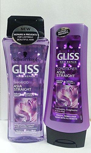 Schwarzkopf Gliss Hair Repair Anti-Frizz Effect Asia Straight Shampoo &...