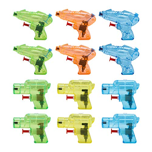 12 Packs Water Gun for Kids Squirt Toys Outdoor Beach Swimming Pool Game Summer Party Favor