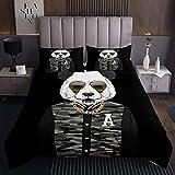 Niedliches Tiermuster für Mädchen Jungen Kinder Panda Bär Gedruckt Tagesdecke 240x260cm Ative Karikatur Riesen Panda Design Steppdecke Hip Hop Bettüberwurf