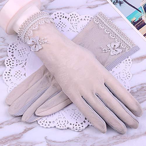 Houlian shop-handschoenen Handschoenen dunne sectie ijs zijde zonnebrandcrème huidverzorging stretch enkele handschoenen korte vrouwen rijden punten verwijst naar ademende touch screen handschoenen handschoenen-10.7