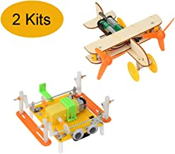 SIM&NAT DIY Stem Project Kits, DC Motor Electronic Assembly Toy Robotic Aircraft Science Kits for Building School Projects
