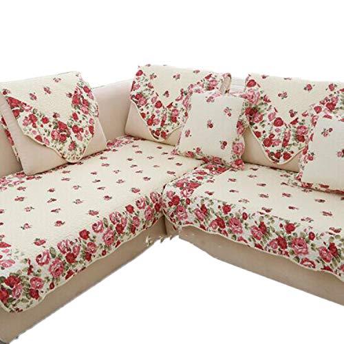 my cat 1 funda de sofá de esquina estilo rural de tela de algodón para las cuatro estaciones de la sala de estar o boda, como se muestra, 110 x 210 cm, 1 unidad