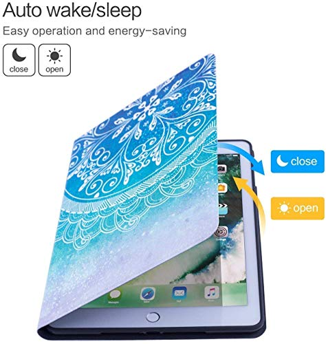 Case for iPad (9.7-Inch, 2018/2017 Model, 6th/5th Generation)Ultra Slim Lightweight Smart Cover,Lotus,Dreamy Lotus Flower in Water Surreal Spiritual Botany Magical Illustr,Smart Covers Auto Wake/Sleep