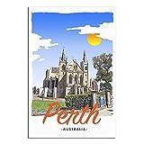 ASFGH Perth Australien Vintage Reise Poster Dekor Gemälde