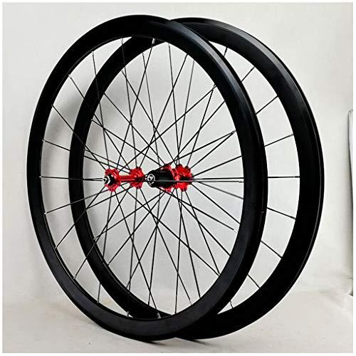 petit un compact MZPWJD700c Paire de roues de vélo de course Jante de frein légère Jante en alliage Double paroi 40mm Roue de vélo…