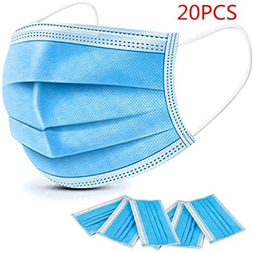 20 Disposable Surgical Masks 3-Layer Masken staubdicht Schutzmasken Atemmasken mit Ohrringe