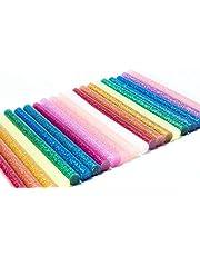 Lijmsticks, hete lijmstiften, 100 stuks, 7 x 100 mm, gekleurde smeltlijmstiften voor doe-het-zelf handwerk, afdichting en snelle reparatie, 10 kleuren