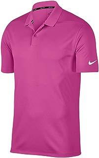 Nike Dry Victory - Polo de Golf para Hombre, Active Fuchsia/White, X-Large