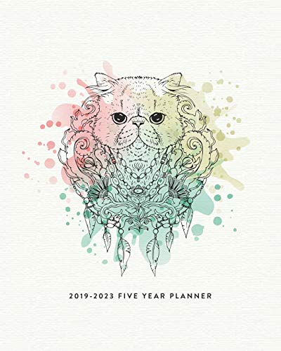 2019 - 2023 Five Year Planner: The Cat Lover's Monthly...