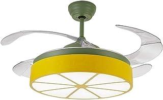 JJZXD Flush Mount Light Fixture, Real Crystal Chandelier,Restaurant Bedroom Fan Light Home Living Room Fan Light Led Light...