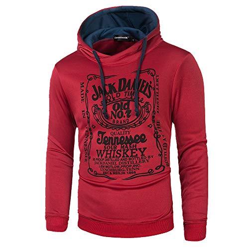 BAGFP Hoodie Herren Langarm Kapuzenpullover Briefdruck Slim Fashion Pullover Persönlichkeit Jacke