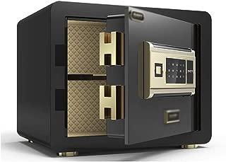 Safes Yale Alarm Smart Fingerprint Safe Mini Security Safe Safe Cash Jewelry Gun in-Wall Safe Deposit Box, 5MM Thickness Wall Safes (Color : Black, Size : 252535cm)