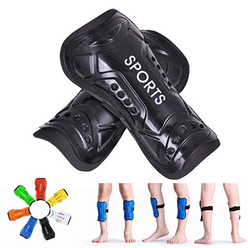 YouthSoccer Shin GuardsFor Kids Child Calf Protective Gear Soccer EquipmentSoccer Shin Pads Calf SleevesProtection For Boys GirlsKids Youth ToddlerChildren TeenagersAdult (Black, M 3'10 - 4'7)