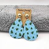 TIGOSM Boucles D'Oreilles En Cuir De Mode Boucles D'Oreilles Pendantes Imprimées Recto-Verso Boucles D'Oreilles Pendantes Pour Femmes Cadeaux De Noël