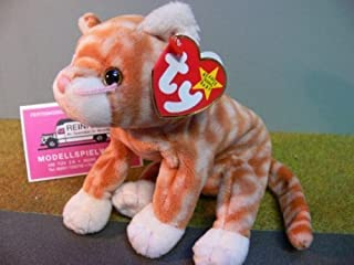 5Star-TD TY Beanie Baby - Amber The Gold Tabby Cat