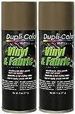 Dupli-Color HVP113 Medium Beige High Performance Vinyl and Fabric Spray - 11 oz. - 2 Pack