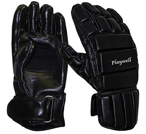 Playwlel Deluxe Vollkontakt-Sparring-Handschuhe aus Leder für Escrima/Kali, Größe L