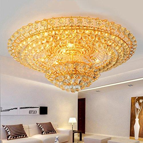 BOBE SHOP- luxe luxe woonkamer kristallen lamp rond slaapkamer goud plafondlamp hotel restaurant