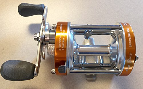 Ming Yang CL60L Orange Baitcast Conventional Fishing Reel Lefthanded Left Catfish Saltwater