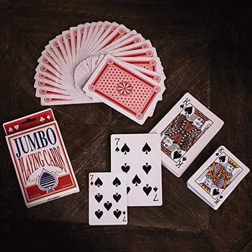TRIXES grosses Blatt Spiel-Karten (86 mm x 122 mm) 52 Karten und Zwei Joker - Extra Groß Kartenspiele