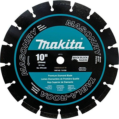 Makita T-01258 10-Inch Diamond Blade Segmented Masonry, Black