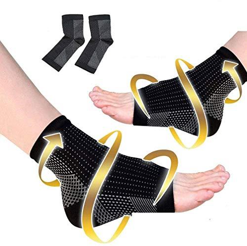 Mit Kupfer Infundierte Magnetische FußStüTzenkompression, Plantarfasziitis-StüTzsocken, Besser Als Nachtschiene, Linderung Von Fersensporn, Bogenschmerzen, FußSchwellung (L/XL)