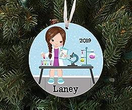 Christmas Xmas Decor 2020 Ornament Personalized Girls Science Scientist Ornament Keepsake - Custom Made to Order - 2020 Xm...