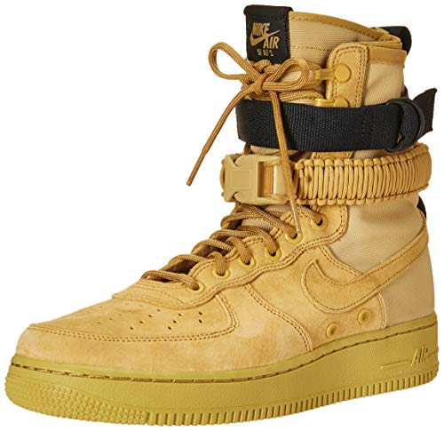 Nike Men's SF Air Force 1 Shoe, Scarpe da Ginnastica Basse Uomo, Multicolore (Club Gold/Club Gold/Club Gold/Black 001), 40 EU