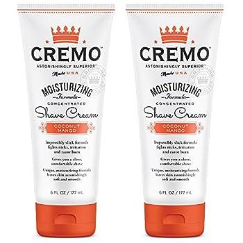 Cremo Coconut Mango Moisturizing Shave Cream Astonishingly Superior Ultra-Slick Shaving Cream for Women Fights Nicks Cuts and Razor Burn 6 Oz  2-Pack