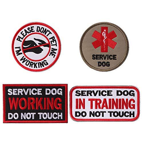 Petvins Service Dog Patch für Weste Geschirr Rucksack K9 Morale Badge Taktische Haken und Schlaufe im Training USA Rückseite Bestickt Tag, Patch E