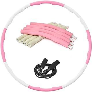 フラフープ ダイエット 人気 大人・子供兼用 8本 組み合わせ自由 3サイズ調整可能 ウエスト 引き締め 有酸素運動 新体操用品 室内・室外対応 1.2kg