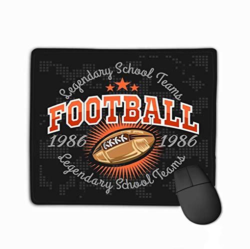 Mousepad in gomma antiscivolo di dimensioni standard Etichette vintage di football americano Poster Volantino Stampa Abbigliamento sportivo