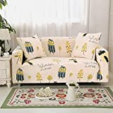 Funda de sofá elástica 4 plazas, Fundas de Tela Escocesa geométricas Fundas de sofá elásticas para Sala de Estar, Funda de Silla elástica para sofá, Toalla de sofá 1PCS