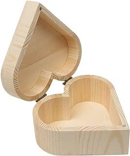 wooden heart trinket box