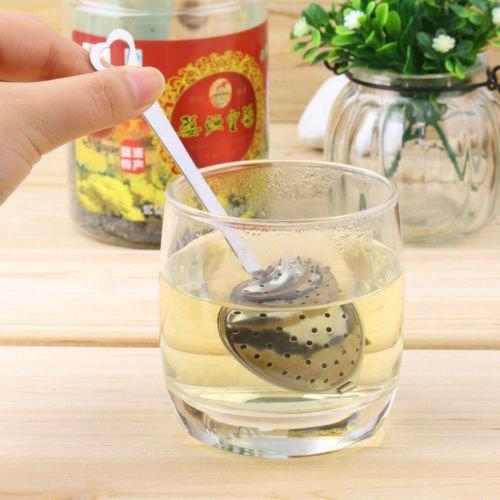 BatterElec(TM) hart vorm roestvrij staal thee Infuser lepel Strainer handvat douche nieuw