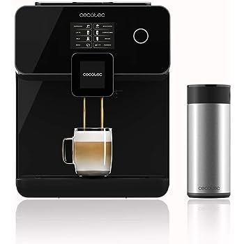 Cecotec Cafetera Megautomática Power Matic-ccino 8000 Touch, Depósito de leche, Pantalla Táctil interactiva, Prepara Cappuccino, Café Personalizable, Tecnología ...