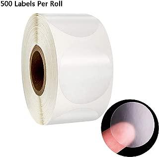 ballboU 500pcs/1 roll Round Transparent Stickers Stamp Envelopes Cards Sticker