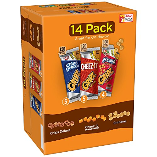 Kellogg's Gripz Chips Deluxe/Cheez-It/Grahams Snack Variety Pack 14-0.9 oz