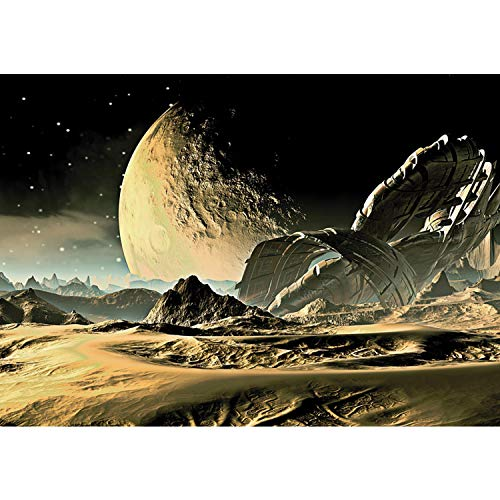 Vlies Fototapete PREMIUM PLUS Wand Foto Tapete Wand Bild Vliestapete - Weltall Mond Sand Transformer - no. 2261, Größe:368x254cm Vlies