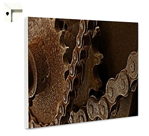 Magneetbord prikbord motief roest ketting 80 x 60 cm