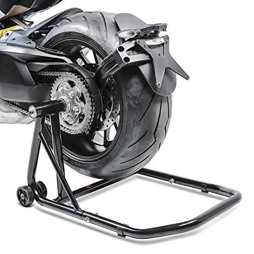 ConStands – Einarm Montageständer Ducati Monster 1200 R 16-19 Schwarz Hinterrad Single Classic Motorrad inkl. Adapter
