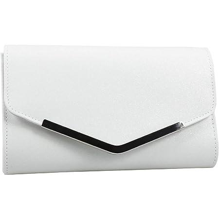 VALICLUD Weiße Abendtasche Handtasche Hochzeit Nachricht Tasche Clutch Bag Geldbörse einfache Kette Tasche für Frauen Damen