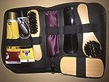 DULALA Juego de cepillos de Limpieza de Zapatos Kits de Cuidado de Zapatos Kit de Herramientas de Pulido Cuidado de Botas Cuidado de Cuero Brillo de Limpieza Set de cepillos de Herramientas